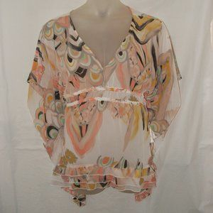 NEW Sz 14/16 Dolman Sleeve Sheer Shirt LANE BRYANT